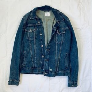 MENS XL Distressed Jean Jacket